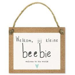 Kadokaartjes Tell it - Welkom, jij kleine beebie welcome to the world