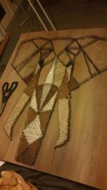 Paneel met spijkers & draad