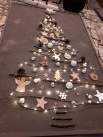 Kerstboom op paneel