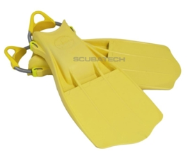 Tecline Rubber Fins Jetstream with SS spring straps Yellow
