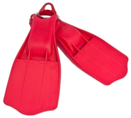Rubber Fins Jetstream with SS spring straps Red