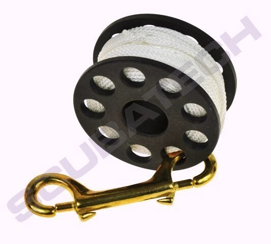 Spool 30m with brass 100mm snap