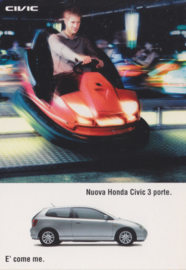 Civic 3-door, free card, DIN A6, Citrus Promotion Italy, # 0750