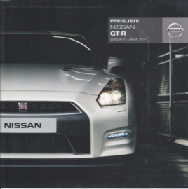 GT-R sportscar pricelist, 16 pages, 01/2011, German language