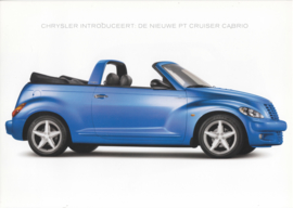 PT Cruiser Cabrio brochure, 6 pages, 2003, Dutch language