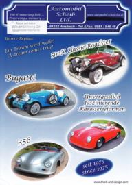 Scheib replica program leaflet, 2 pages, about 2010, German languages