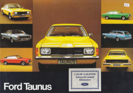 Taunus brochure, 12 pages, 01/1975, Dutch language