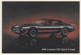 Camaro Z28 Sport Coupe,  US postcard, standard size, 1980
