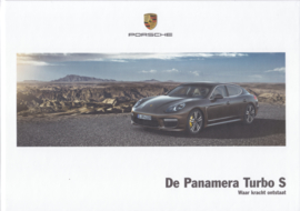 Panamera Turbo S brochure, 56 pages, 03/2014, hard covers, Dutch language