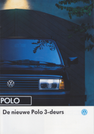 Polo 3-door brochure, A4-size, 8 pages, 08/1990, Dutch language