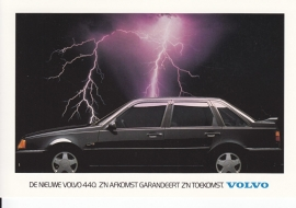 440 Sedan intro postcard, A6-size, 1987, Dutch language