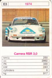 911 Carrera RSR 3.0 - 1974 - card # E3 - size 10 x 6,5 cm
