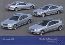 Mercedes-Benz AMG models, A6-size postcard, Paris 2002