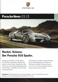 News 03/2013 with 918 Spyder, 34 pages, 10/13, German language