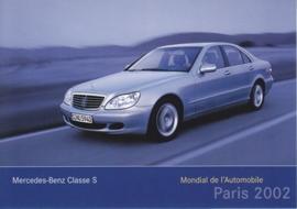 Mercedes-Benz S-Class Sedan, A6-size postcard, Paris 2002