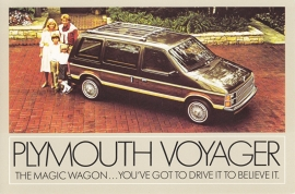 Voyager, US postcard, continental size, about 1984