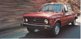 128 Custom 4-door Sedan, US-issued postcard, size 20,7 x 10 cm, 1977