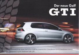 Golf GTI, A6-size postcard, German, 2013