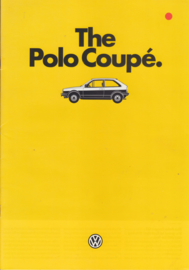 Polo Coupé brochure, A4-size, 16 pages + specs., 8/1985, English language