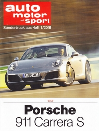 911 Carrera S roadtest reprint AMS (991 II), 8 pages, 01/2016, German