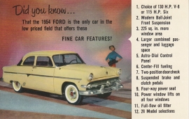2-Door Sedan, US postcard, standard size, 1954