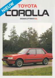 Corolla Sedan/Liftback SXL brochure, 4 pages, 1986, Dutch language
