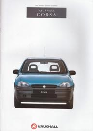 Corsa brochure, 60 pages, English language, V10280, 8-1993, UK