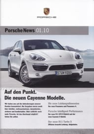 News 01/2010 with Cayenne Modelle, 24 pages, 02/10, German language