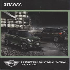 Countryman/Paceman pricelist brochure, 24 pages, Dutch language, 11/2014 %