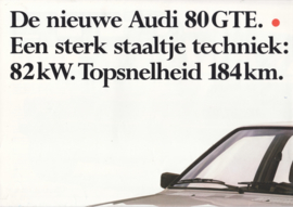80 GTE brochure, 8 pages, 12/1982, Dutch language