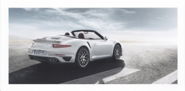911 Turbo Cabriolet, foldcard, 2014, WSRK 1401 33S1 10 German