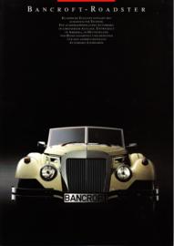 Bancroft Roadster brochure, 6 pages, German language
