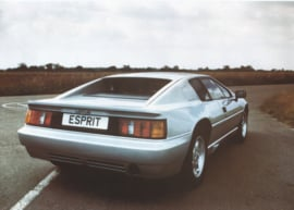 Esprit sportscar, 2 page leaflet, DIN A4-size, 1989, factory-issued, English