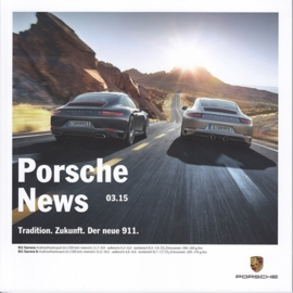 News 03/2015 with 911 Carrera, 46 pages, 10/2015, German language