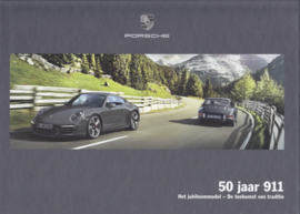 911 - 50 Years Jubilee model brochure, 56 pages, 04/2013, hard covers, Dutch