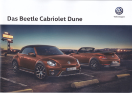 Beetle Cabriolet Dune brochure, A4-size, 8 pages, 11/2017, German language