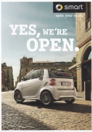 Fortwo edition whiteshade postcard, DIN A6-size, 05/2013, German language