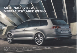 Golf Variant, A6-size postcard, German, 2014