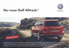 Golf Alltrack, A6-size postcard, German, 2015