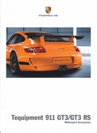 911 GT3/GT3 RS Tequipment + pricelist, 6+4 pages, 08/2009, English