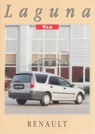 Laguna Delivery Van folder, 4 pages, 1996, Dutch language