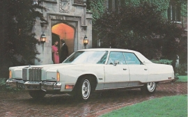 New Yorker Brougham, US postcard, standard size, 1978