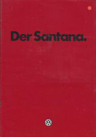 Santana Sedan brochure, 28 pages,  A4-size, German language, 1/1982