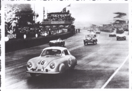 356 pre-A racer at Le Mans 1951, DIN A6 size postcard, issued about 2016