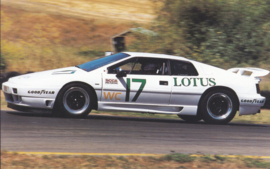 Esprit SE SCCA racer, standard size postcard, about 1990, USA issue