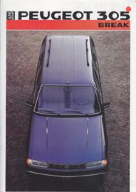 305 Break brochure, 16 pages, A4-size, 1986, Dutch language