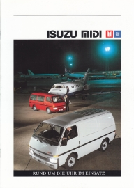 Midi Van brochure, 12 pages + specs. + pricelist + colours, German language, 1989