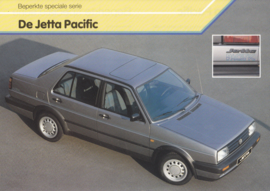 Jetta Pacific leaflet, A4-size, 2 pages, Dutch language, 12/1989, Belgium