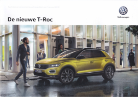T-Roc pricelist brochure, A4-size, 36 pages, 01/2018, Dutch language