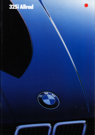 325i Allrad (4wd) brochure, 26 pages, A4-size, 1/1985, German language